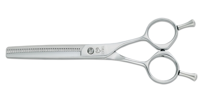 Joewell E40 Joewell, Japanese, Handmade, Silver, Chrome, E, E40, Texturizing, Series, 40, Teeth, Offset, Shear, Righty, Right, Handed, Removable, Finger, Rest