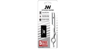 Razor & Blade Kit - Silver JW, Styling, Razor, Solid, Silver, Chrome, Blades, Kit